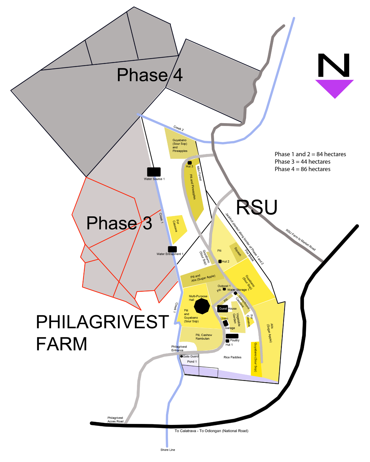 PhilAgrivest Farm Map