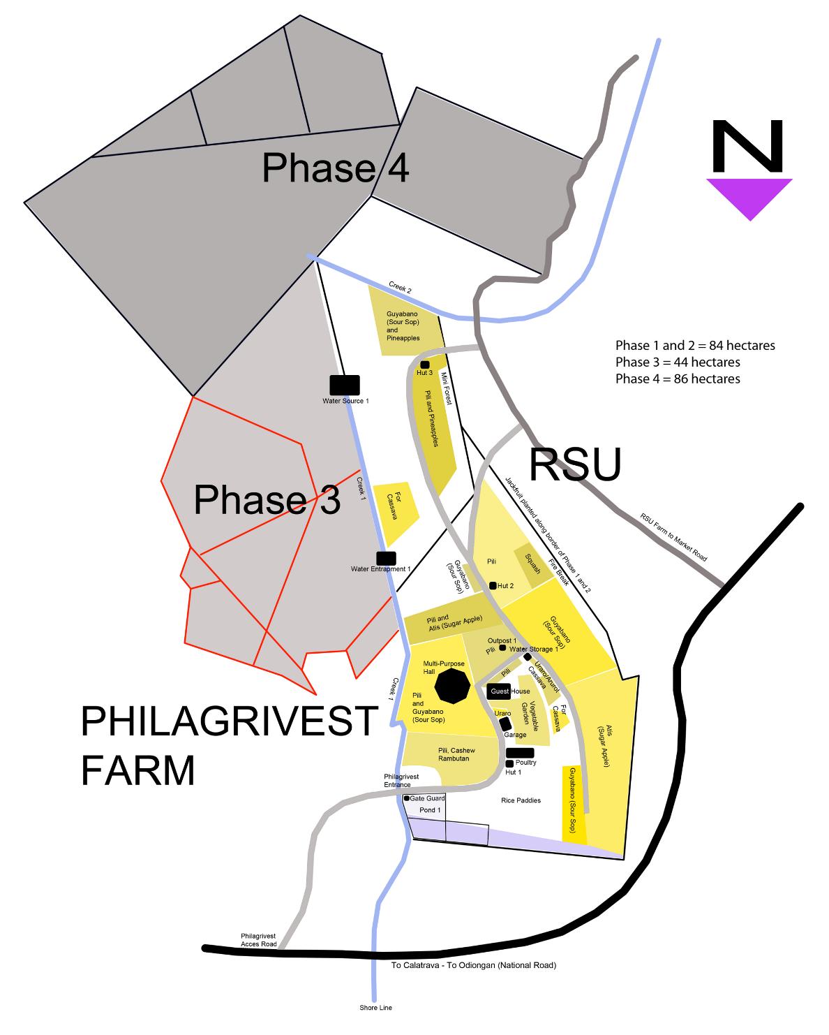 PhilAgrivest Farm Map